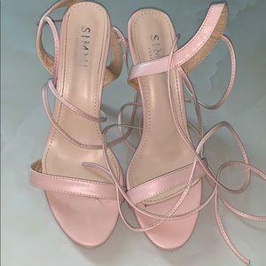 Sunni baby pink heels